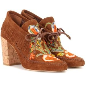 Tory Burch: Embroidered Fringe Huntington Booties